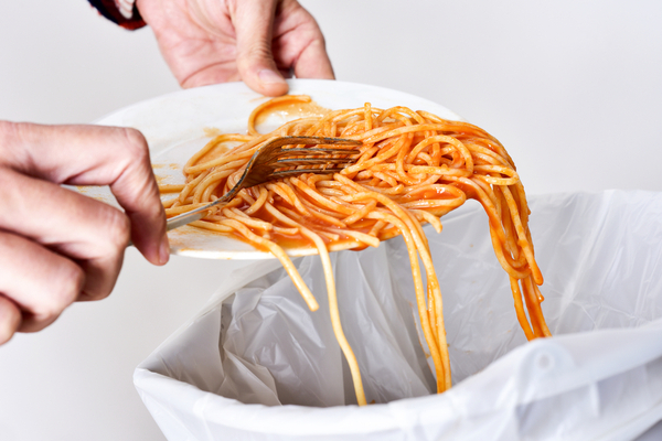 how to reduce food waste - spaghetti
