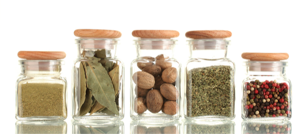 Plant-Based Pantry staples- spices in jars