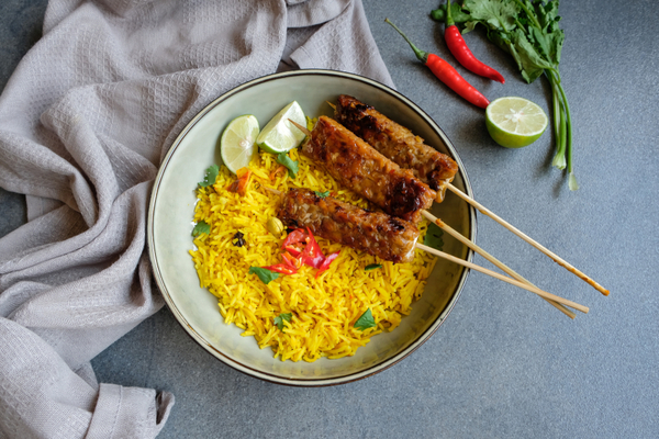 what is tempeh - fried tempeh on rice