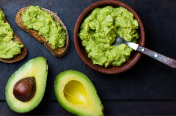 toast with nutritious avocado