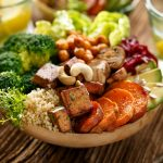 Buddha bowl of mixed vegetables