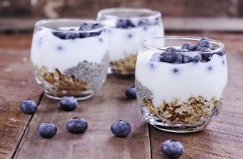 Kefir yogurt and chia parfaits