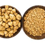 Textured vegetable protein, soy meat for a vegetarian diet